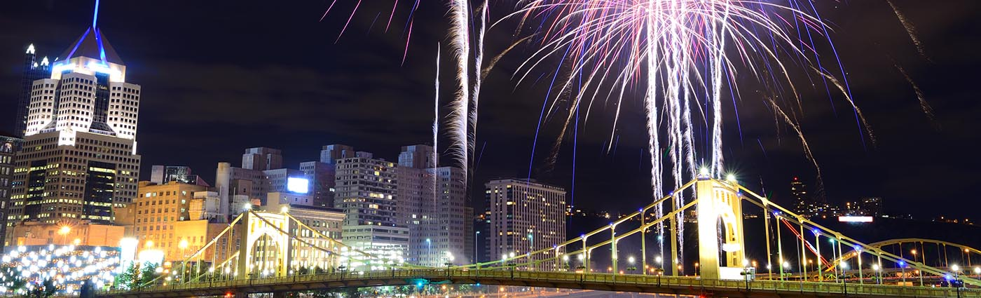 Fireworks Over Downtown Pittsburgh